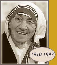 Mother Teresa near the end of her life (www.google.com)