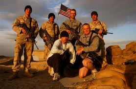 Jared Monti and his friends at their base in Afgh (search.ahp.us.army.mil)