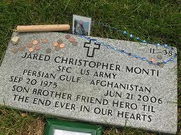 Jared Monti's grave site (flickr.com)