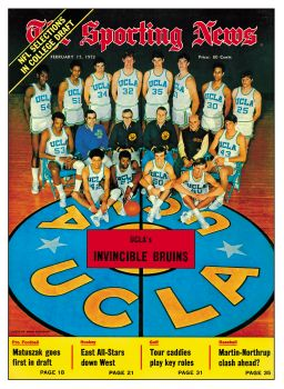 John Wooden and the 1973 UCLA Bruins Basketball T