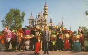 Walt Disney with the Disney characters (online)