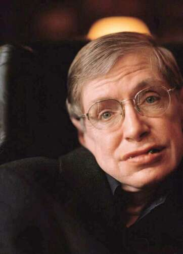 Professor Stephen W. Hawking's portrait (from Hawking's official website, www.hawking.org.uk, on the biography page.)