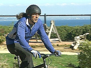 Tom feels compelled to use a bike instead of poll