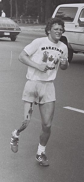 Terry Fox running his marathon of hope in toronto (Wikipedia the free encyclopedia)