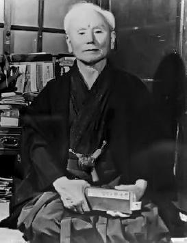 An iconic picture of sensei Gichin Funakoshi (http://tinyurl.com/3krbd32)