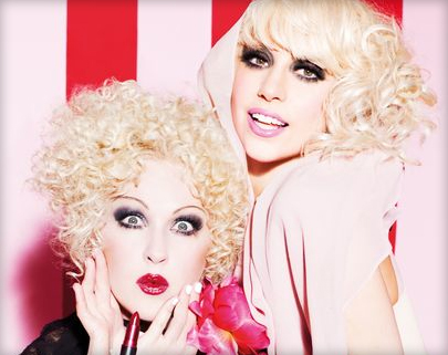 Lady Gaga and Cyndi Lauper's add for Viva La Glam (http://www.madaboutmakeup.co.uk/viva-glam-weve-gone-gaga-crazy/)