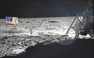 Neil Armstrong on the Moon (http://dayton.hq.nasa.gov)
