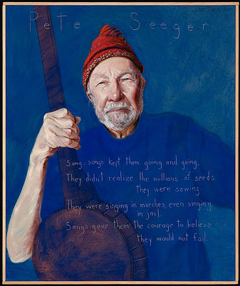 HERO Pete Seeger (Americans Who Tell the Truth (Painted by Robert Shetterly)