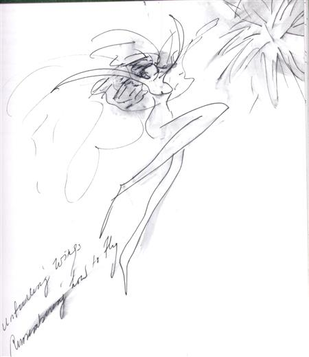 Kathy Drawing Remembering How to Fly (Kathy Eldon ())