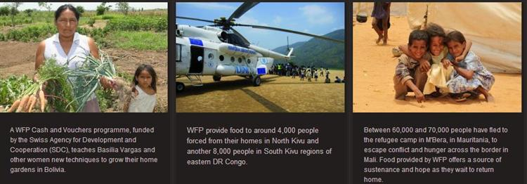 World Food Programme around the globe (wfp.org ())