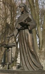 the monument to Saint Efrosinya Polotskaya (internet: yandex.by (unknown person))