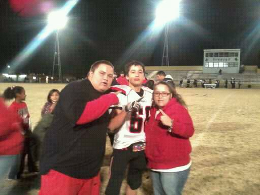 me my mom and my little brother ( ())
