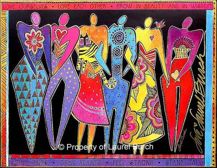 """Join Hands"" - Mural by Laurel Burch"