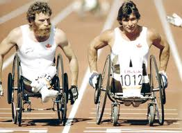 Rick Hansen competing in the 1984 Olympics in LA. (http://www.thetelegram.com/News/Local/2011-08-18/article-2712018/N.L.-athlete-inspired-Rick-Hansen/1 ( J. Merrithew/Canadian Press))