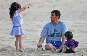 Sandler at the beach