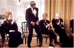 Ray Charles at the Kennedy Center Honors (http://raycharlesvideomuseum.blogspot.com/2010/03/kennedy-centers-honors-tribute-to-ray.html ())