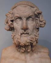 A bust of Homer (www.livius.org (Marco Prins))