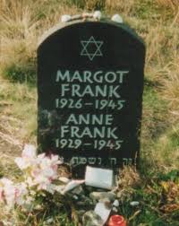 Anne and her sister Margot's grave