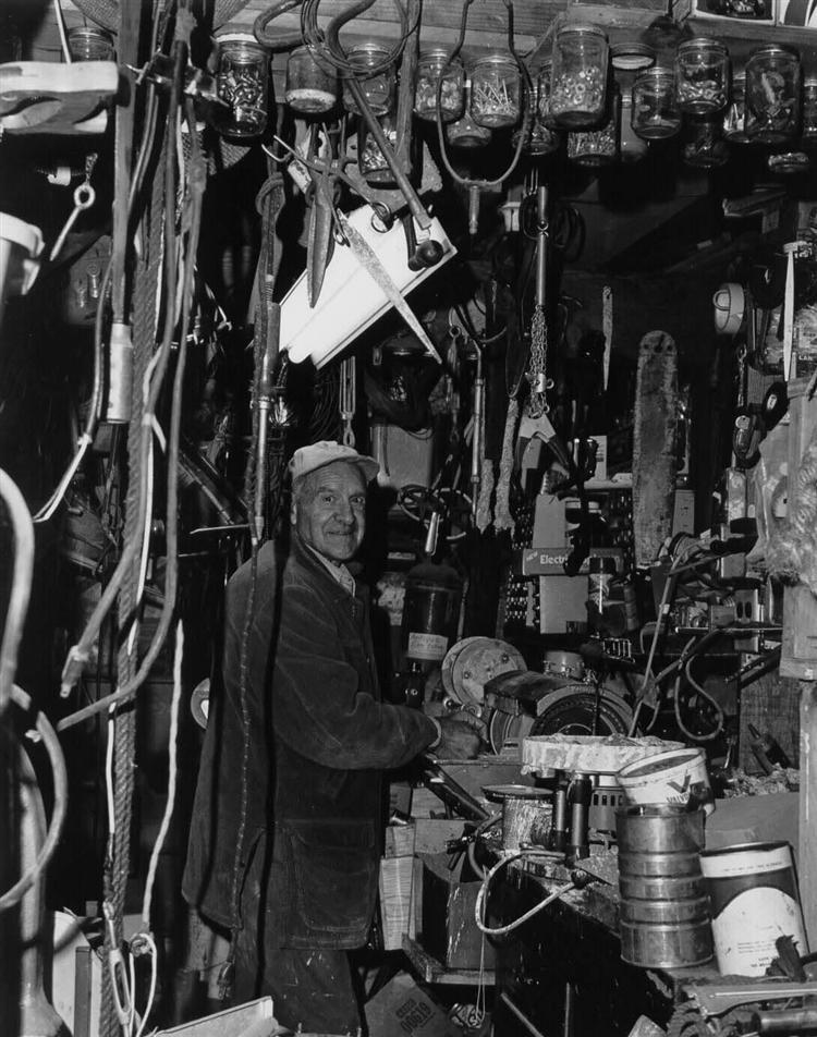 (Grandpa in his workshop. (photo by Mark Eagan))