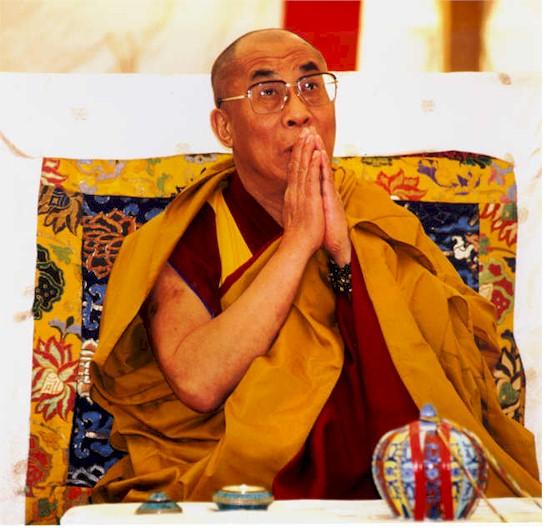 The Dalai Lama praying (http://www.wireheading.com/dalai-lama.jpg (BLTC))