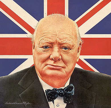 Churchill standing before his country (http://www.winstonchurchill-quotes.com/sayings/europe/ ())