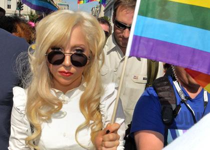 Gaga at a gay rights parade. (nyulocal.com ())
