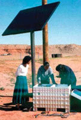 Bringing Photovoltaics to the Navajo Nation. (www.nmwoman.com)