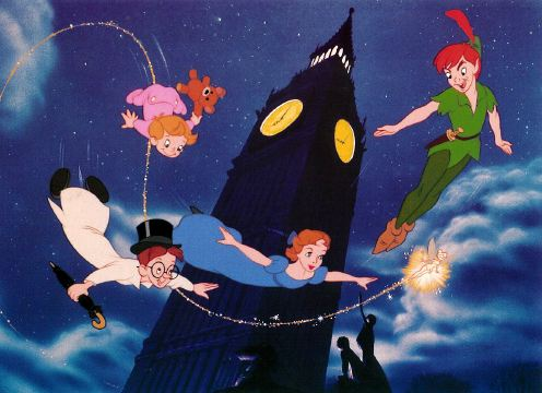Peter Pan and friends flying  (http://www.animatedheroes.com/peterpan.html ())