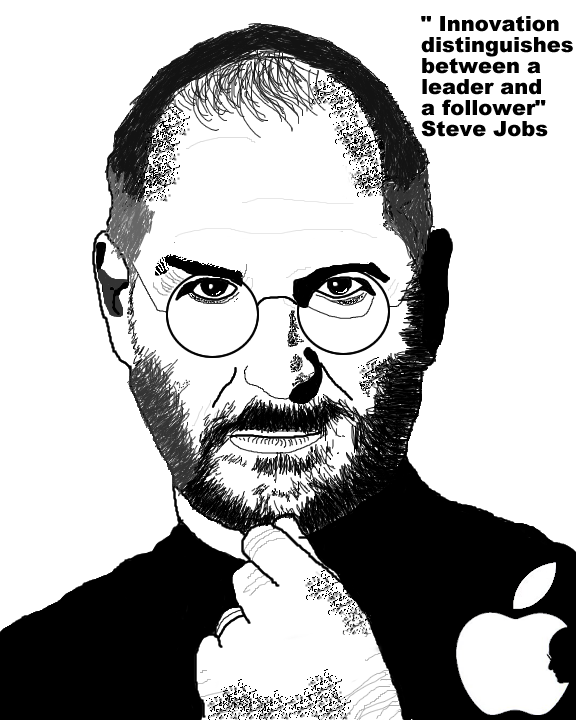 D Line Drawings Jobs : Steve jobs my hero