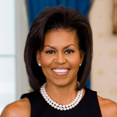 First Lady Michelle Obama (http://www.biography.com/people/michelle-obama-307592 ())