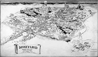 Early map of Disneyland (www.disneyhistoryinstitute.com ())