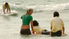 Bethany Hamilton with tsunami victims
