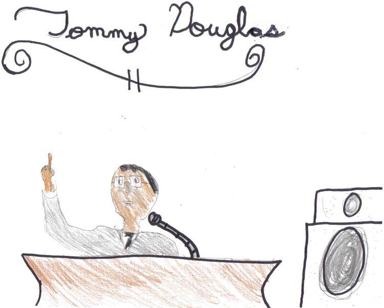 how to draw tommy douglas