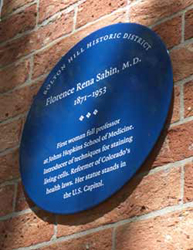 John Hopkins University Lazear Memorial (http://www.boltonhill.org/neighborhood/n_plaque.html (Bolton Hill Neighborhood))
