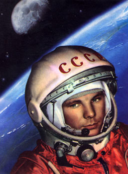 Yuri Gagarin in space. (http://rusmir-usm.md/wp-content/uploads/gagarin.jpg ())