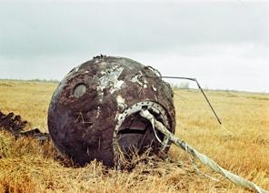 The Soviet Vostok 1 spaceship. (http://tinyurl.com/cpsoqxa)