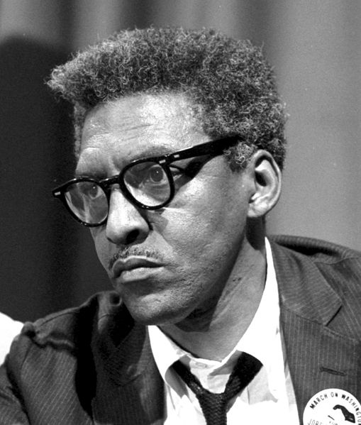 Picture of Bayard Rustin  (http://upload.wikimedia.org/wikipedia/commons/thumb/9/92/BayardRustinAug1963-LibraryOfCongress_crop.jpg/250px-BayardRustinAug1963-LibraryOfCongress_crop.jpg (Leffler, Warren K))