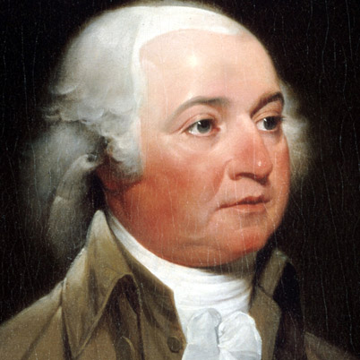 The was done while Adams served as vice-president (Biography.com (John Trumbull))