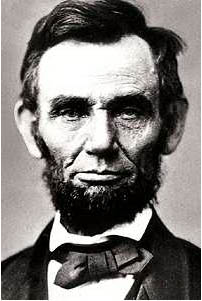 This is a portrait of Abraham Lincoln <br> (http://www.historyplace.com/specials/portraits<br>/presidents/port-linc.jpg)