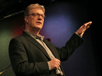 Sir Robinson passionately speaks about education. (http://www.ted.com/talks/ken_robinson_says_schools (TED, LLC))