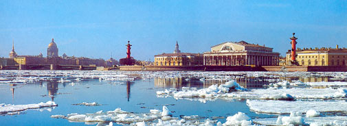 St. Petersburg on the Neva River - Borodin's home for most of his life