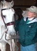 Julie Horrigan (right) Cody the horse (left)