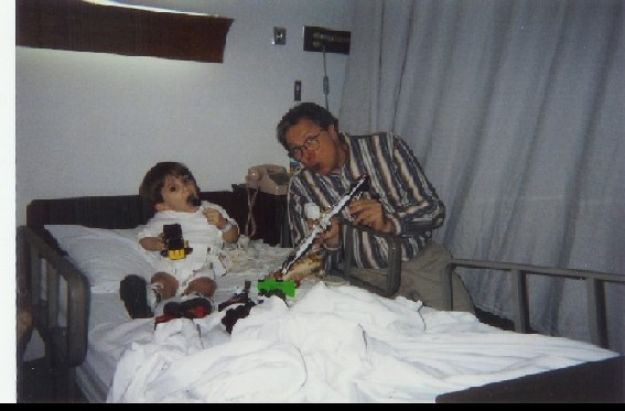 Dr. Kopits and me having fun after a surgery (Personal Photo)