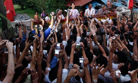 Aung San Suu Kyi while under house arrest (www.theguardian.com ())
