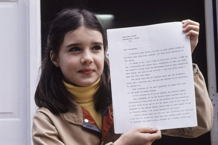 Samantha with Yuri Andropov's letter (https://vk.com/club7450994)