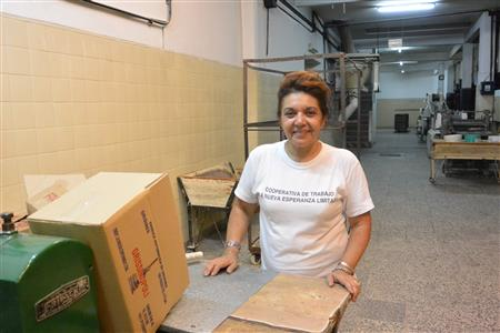 Ivana, one of the owners of the recovered factory  ( (Annie Merkley))