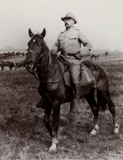Teddy on his Rough Riders Horse (nps.gov ())