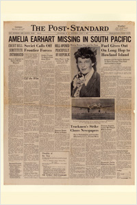 Newspaper article from when Amelia was lost (http://butthisisdifferent.com/ ())