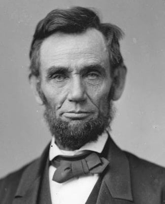 Abraham Lincoln in 1863, age 54 (Wikipedia (M.P. Rice))