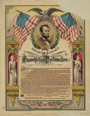 An image depicting the Emancipation Proclamation (civilwar.org)